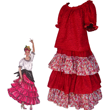Mexican Fiesta Folk Costume