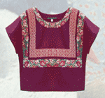 Kahlo Burgundy Blouse