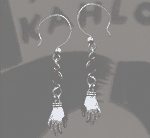 French Loop Hand Earrings