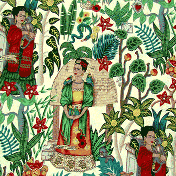 Frida Kahlo Garden Fabric