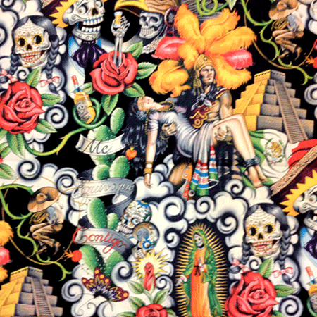 Mexican Heart Fabric