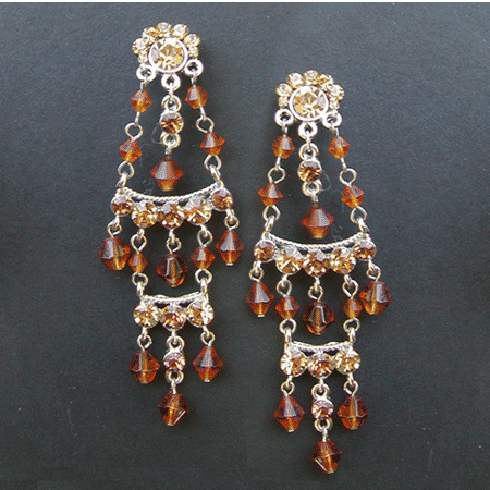 Crystal Mexican Chandelier Earrings