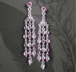 Latin Style Crystal Chandelier Earrings