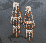 Crystal Mexican Style Chandelier Earrings