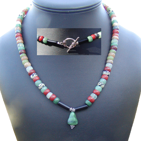Malachite Panama Tiger Necklace
