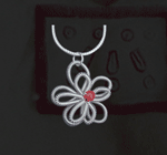 Flower Coil Sterling Silver Necklace