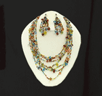 Techuana Necklace With Earrings