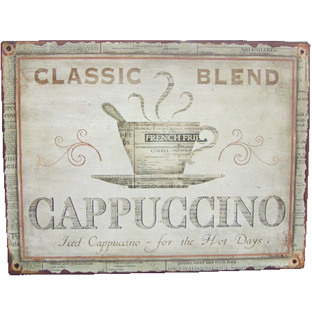 Blend Cappuccino Sign