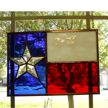 Stained Glass Texas Flag