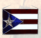 Puerto Rico Stained Glass Flag