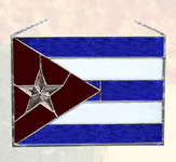 Cuban Stained Glass Flag