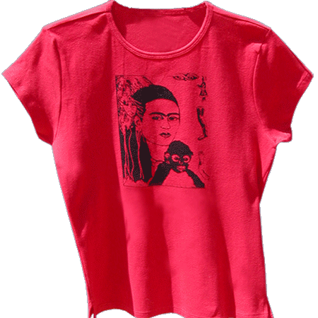 Frida Kahlo Monkey T-shirt