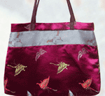 Butterfly Satin Suade Bag