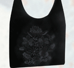 Velvet With Flowers Tote bag